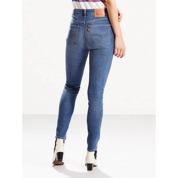 LEVIS 271 Vintage High Rise Skinny Orange Tab Jean
